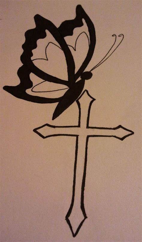 cross and butterfly tattoo 32 best cross and butterfly tattoos images on