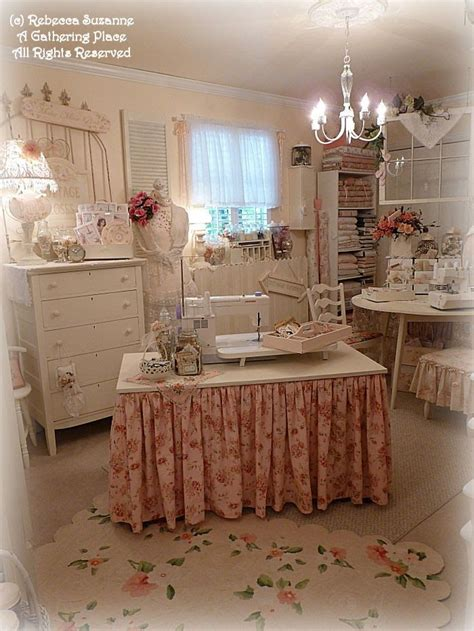 644 Best Girly Craft Rooms Offices And Closets Images On Shabby Chic Sewing Room
