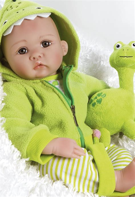Gamis New Babydoll lifelike newborn boy baby doll my dino rex soft vinyl 18 inch paradise galleries reborn