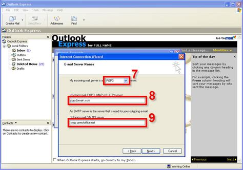 Vanity Email Address by Outlook Express Setup For New Vanity Domain Accounts