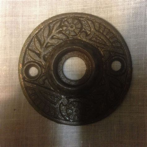 antique vintage cast iron eastlake door knob