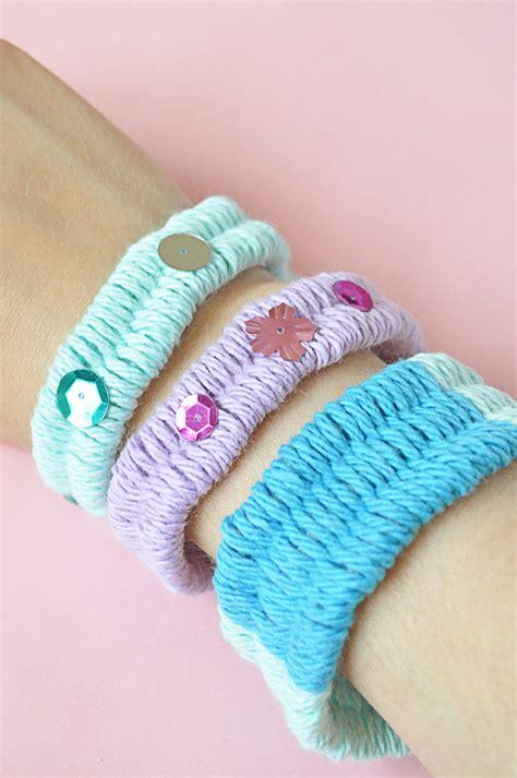 Handmade Yarn Bracelets - woven yarn friendship bracelets handmade