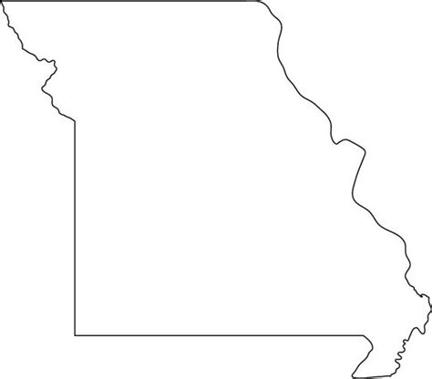 missouri map outline missouri coloring and maps on