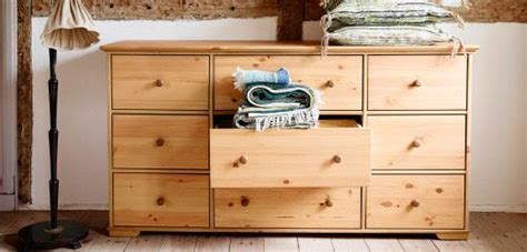 Ikea Bedroom Drawers Pine Front View Of Solid Pine Chest Of Drawers With Center