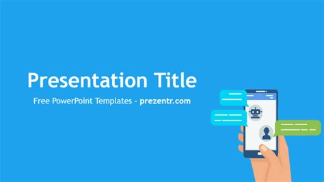 free chatbots powerpoint template prezentr powerpoint