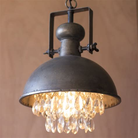 Pendant Light With Crystals Metal Pendant L W Crystals Cll1122