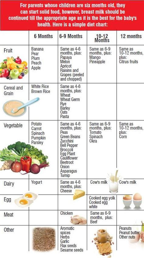 1 Year Baby Food - healthy diet chart for 1 year baby baby food chart 60
