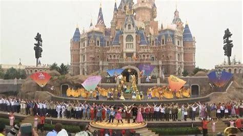 list theme parks china disney s china fairytale begins with 5 5 billion park