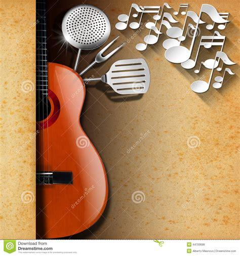 Kitchen Design Template music and food menu design stock illustration image
