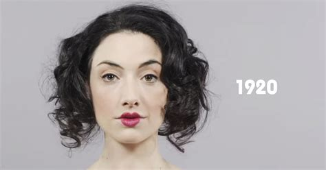 this years hair trends 100 years of makeup and hairdos in one minute