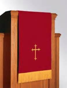 church pulpit drapes pulpit lectern scarfs