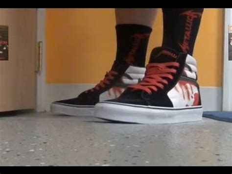 Vans Metalica Premium vans x metallica quot kill em all quot sk8 hi sneaker review on