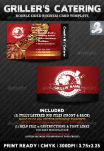 Catering Business Card Template Griller S Catering Business Card Templates By Creativb