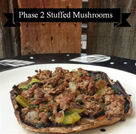 Detox Stuffed Mushrooms by Phase 2 Stuffed Mushrooms For The Fast Metabolism Diet
