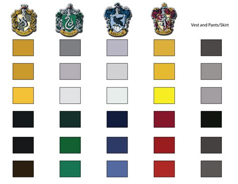 hogwarts house colors diy fandom crafts on hogwarts harry