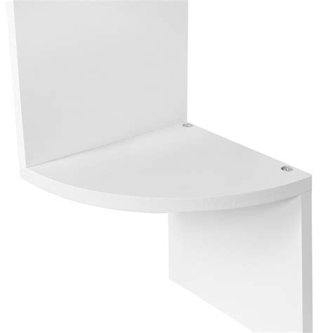 Modern Corner Shelf Unit by Hartleys Zig Zag Wood Floating Corner Wall Shelf Unit