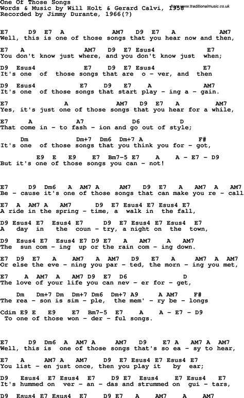 www songs song lyrics with guitar chords for one of those songs