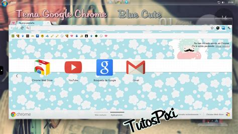 cute themes chrome tema google chrome blue cute by tutospixi on deviantart