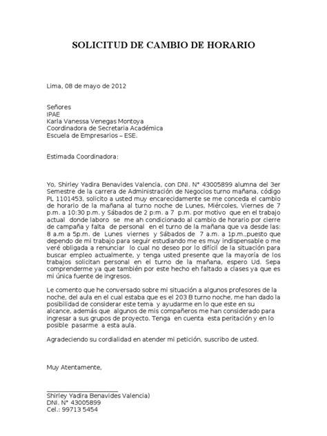 carta de cancelacion de materias uptc solicitud de cambio de horarios