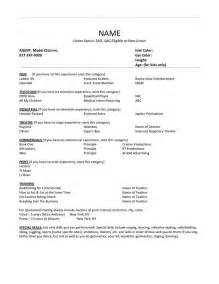 theatre resume template learnhowtoloseweight net