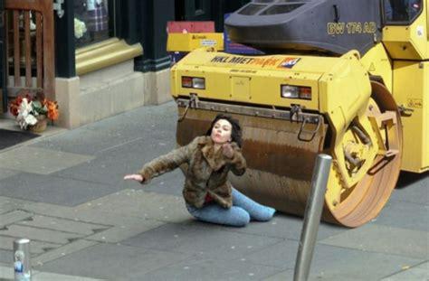 Scarlett Johansson Falling Down Meme - 90 scarlett johansson and a steamroller source twitter