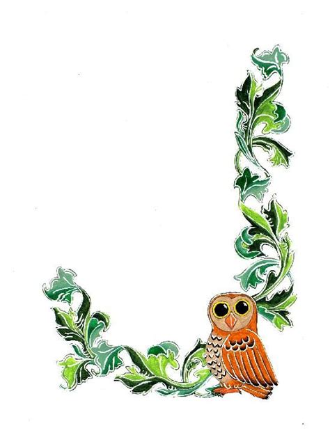printable paper with owl border 7 best images of owls printable borders and frames free