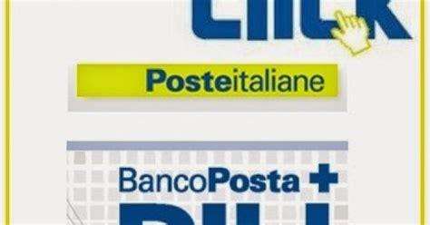 conto banco poste click conto click banco posta