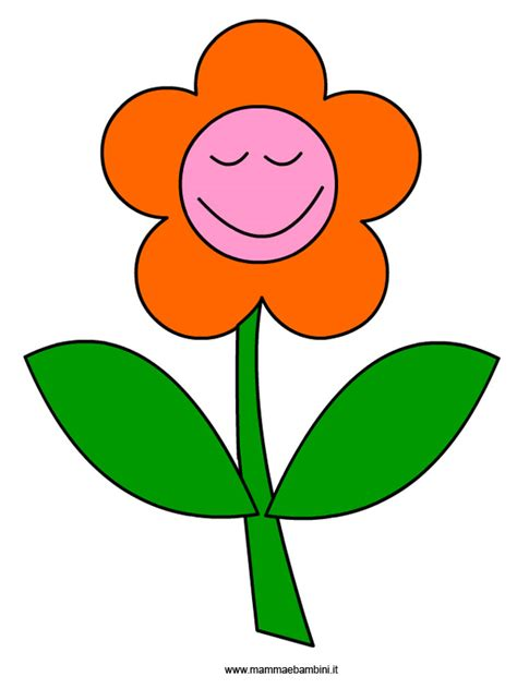 fiore disegno disegno fiore che ride da ritagliare mamma e bambini