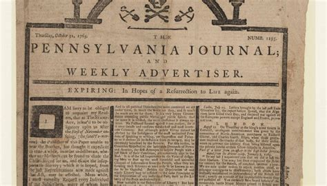 colonial newspaper protests st act of 1765 newseumed