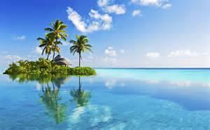 Tropical House Plants Images - little tropical island in blue wallpapers little tropical island in blue stock photos