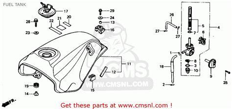 honda vtr interceptor vtr   usa fuel tank schematic partsfiche