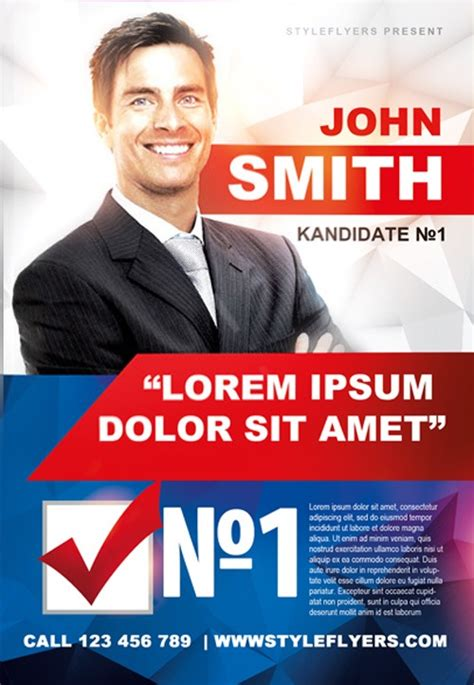 Political Caign Free Flyer Template Download For Photoshop Election Poster Template