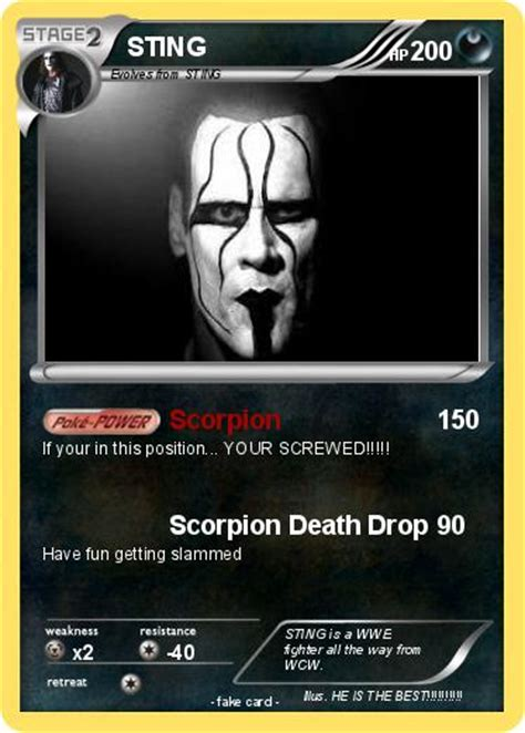 sting card pok 233 mon sting 120 120 scorpion my card
