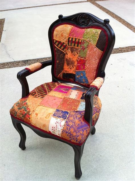 Boho Patchwork Chair - fab boho chic accent arm chair from lemonaider on etsy