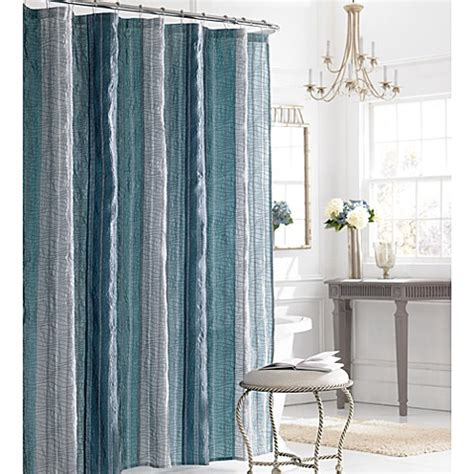 Blue Bathroom Shower Curtains Manor Hill 174 Shower Curtain In Blue Bed Bath Beyond