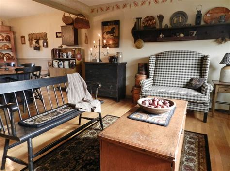 Primitive Living Room by Living Room Dining Room Primitive Decorating