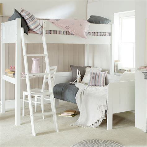 day bed with desk fargo ivory high sleeper with day bed and desk ollie leila