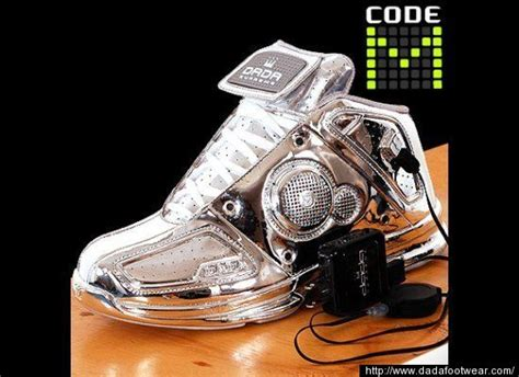 Poste Futuristic Silver Shoe by The Gallery For Gt Futuristic Shoes