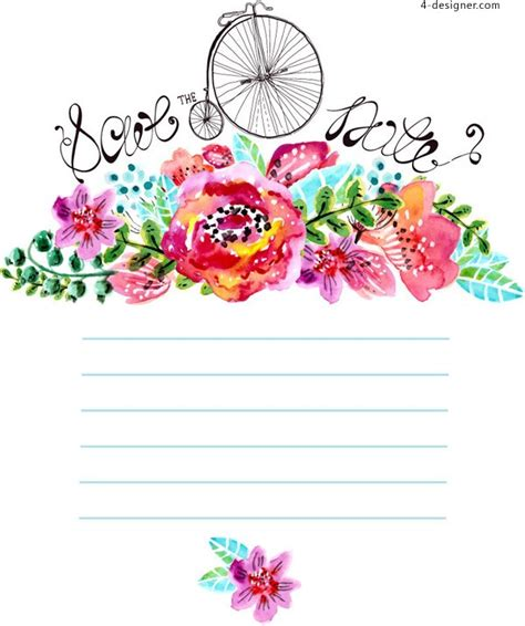 Home Decoration Software Free Download by 4 Designer Watercolor Floral Decorative Background