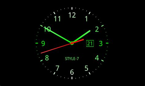 wallpaper clock windows 7 analog clock live wallpaper 7 android apps on google play