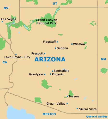 arizona map state maps maps of arizona az usa