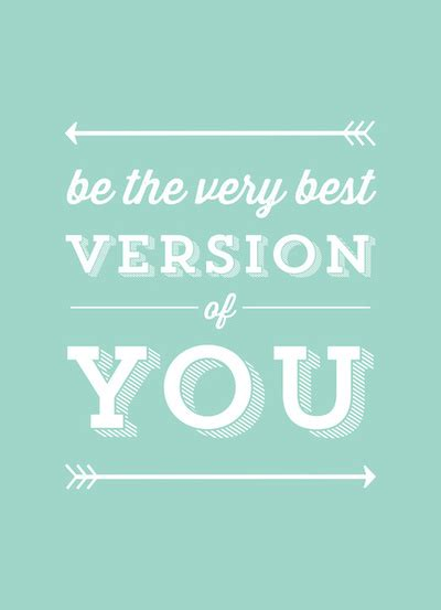 best you be the best version of you