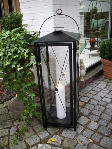 gartenlaterne gro 223 metall bestseller shop - Kerzenständer Groß Schwarz