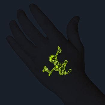 glow in the dark halloween tattoos dancing skeleton glow tattooforaweek temporary tattoos