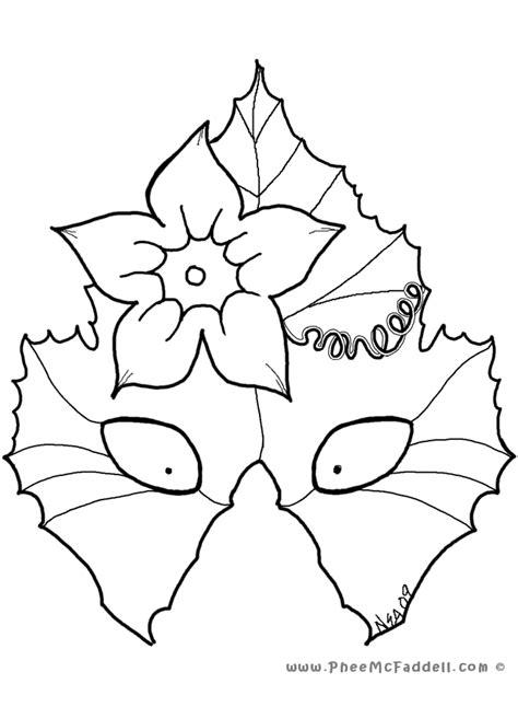 printable leaf mask pumokin leaf mask coloring page az coloring pages