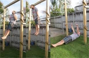backyard pull up bar back to primal pull up frame