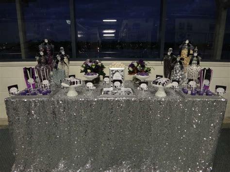 purple black white and silver birthday ideas