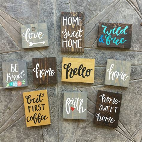 Handcrafted Wooden Signs - 1000 ideas about painted signs on home