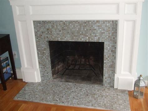 tile fireplaces living room and dining room decorating