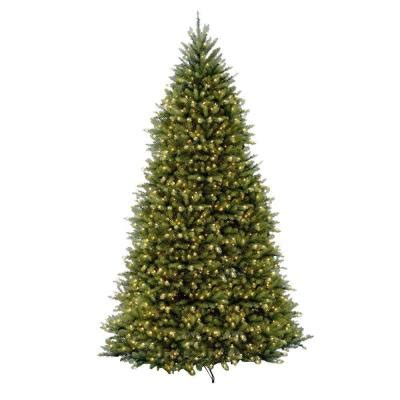 10 foot tree home depot national tree company 10 ft pre lit dunhill fir hinged artificial tree with clear